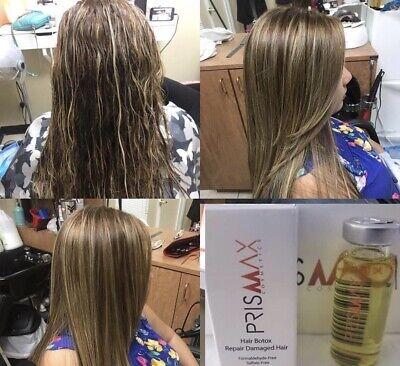 PRISMAX 1 AMPOULE HAIR BOTX SHOCK KERATIN NUTRITIVO REPAIR FAST SHIPPING