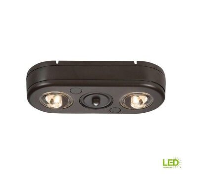All-Pro Bronze Twin Head Dusk to Dawn Outdoor LED Security Flood Light