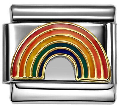 RAINBOW SUNSHINE LOVE Enamel Italian 9mm Charm NC016 Fits Nomination Classic](Rainbow Sunshine)