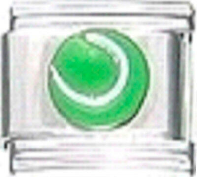 - TENNIS BALL SPORTS Enamel Italian Charm 9mm Link - 1x SP008 Single Bracelet Link