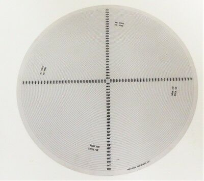 Nikon 12 Inch Profile Projector Radiius Chart 360 Combination