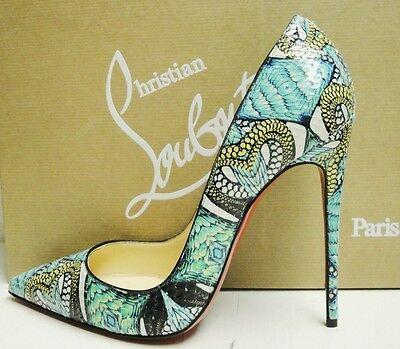 Christian Louboutin So Kate 120 Python Inferno Heels Pumps Shoes 38.5