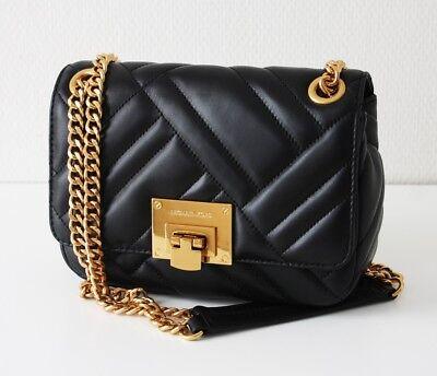 Leder Flap Shoulder Bag (MICHAEL KORS TASCHE/BAG VIVIANNE SM Shoulder Flap black schwarz)