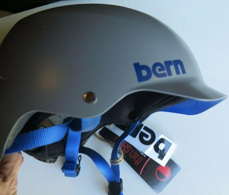 Bern Watts Bike Snow Skate Helmet Matte Gray Crank Fit Low Profile Size S/M