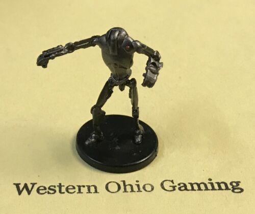 Star Wars Miniatures Super Battle Droid #32/40 NO CARD USED SWM The Clone Wars