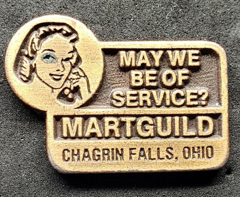 MARTGUILD PLAQUE CHAGRIN FALLS, OHIO MINIATURE BRONZE GIVEAWAY ADVERTISING