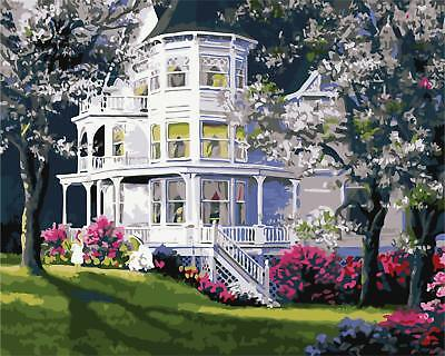 16x20-034-Spring-House-Paint-By-Number-Kit-DIY-Oil-Painting-Canvas-for-Adults-K (Spring Crafts For Adults)