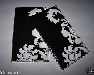 2 Packages DAMASK Black & White NAPKINS-2-ply 32 Guest Buffet Towels-Decoupage ()
