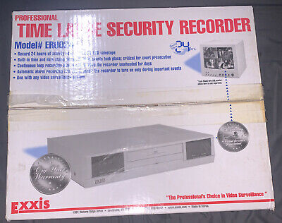 Exxis Time Lapse Recorder Vhs Video Surveillance Security System Player Er0024