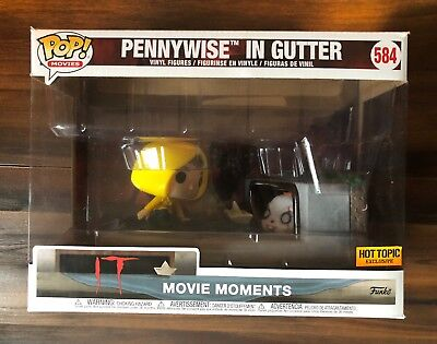 FUNKO POP IT MOVIE MOMENT GEORGIE & PENNYWISE IN GUTTER HOT TOPIC EXCLUSIVE