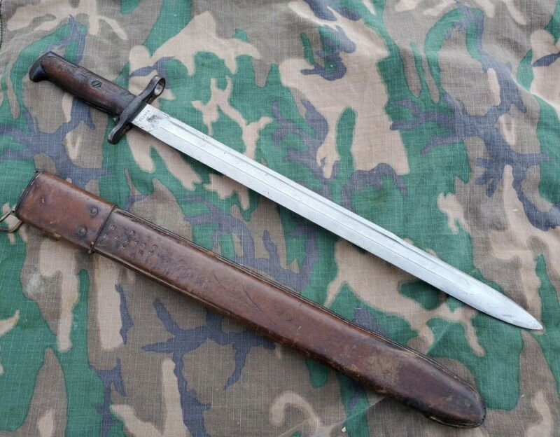 WW1 US SPRINGFIELD M1905 BAYONET YEAR 1910 2nd Infantry Division unit marked
