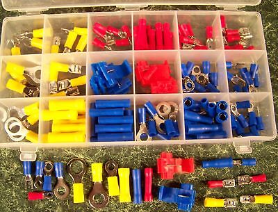 160pc AUTO WIRE TERMINAL SET new connector butt splice with case