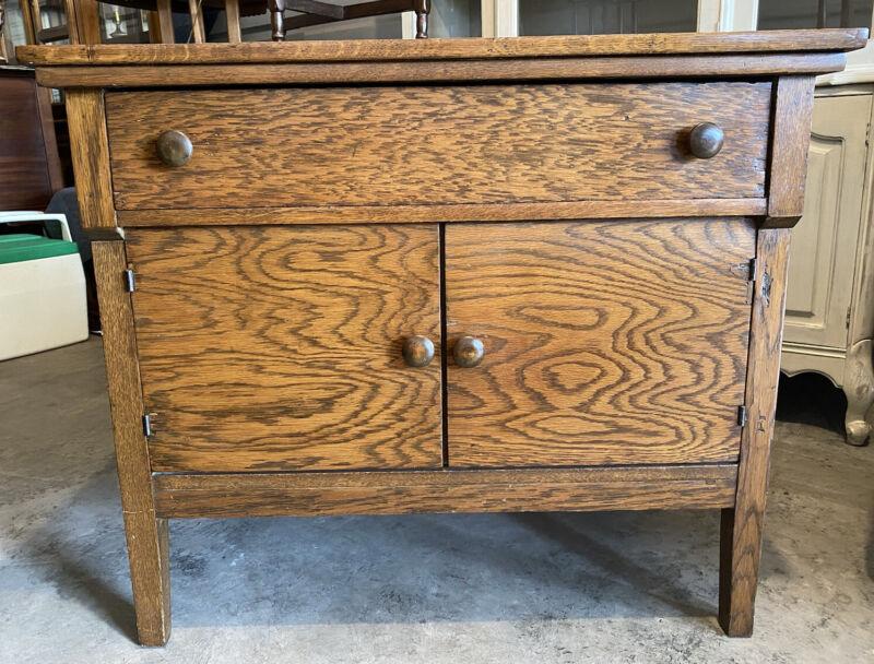 Antique - Solid Oak WASHSTAND