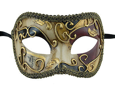 Mask from Venice Colombine Golden Black Red Costume-Ball Masquerade - 1932 -V49B
