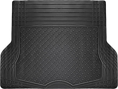 - Trunk Cargo Floor Mats for Cars All Weather Rubber Black Heavy Duty Auto Liners