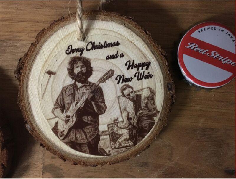 Grateful Dead Christmas Ornament-Jerry Garcia & Bob Weir