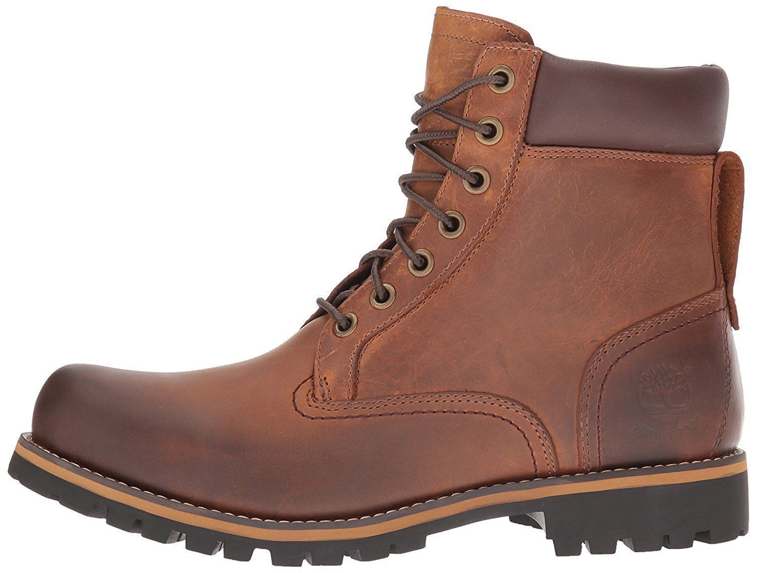 Timberland Rugged 6 Inch Waterproof Brown Men's Leather Boots 74134