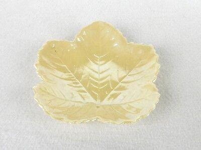 Maple Leaf Dish (Small Porcelain Maple Leaf Dish, Cream Color, Belleek Ireland Mark)