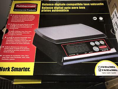 Rubbermaid 1812591 Pelouze 12 Lb. High Performance Digital Portion Control Scale