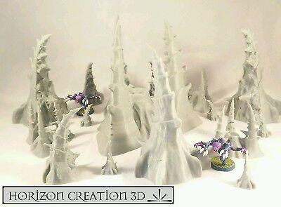 HC3D - Bio Terrain Set 16 Pieces  - Wargames Alien Scenery
