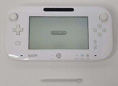 Nintendo Wii U Gamepad Controller Only White With Stylus WUP-010(USA) Tested