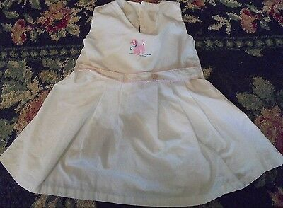 Vintage dress for display pink poodle baby nusery retro chic dog puppy