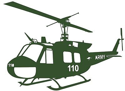 IROQUOIS UH-1H  'HUEY' - Australian Army - Helicopter Adhesive Vinyl Decal -  for sale  Shipping to United States