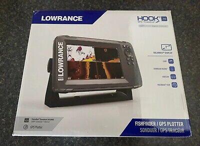 New Lowrance Hook2 7X Tripleshot Fish Finder GPS/Sonar Combo Sidescan Downscan