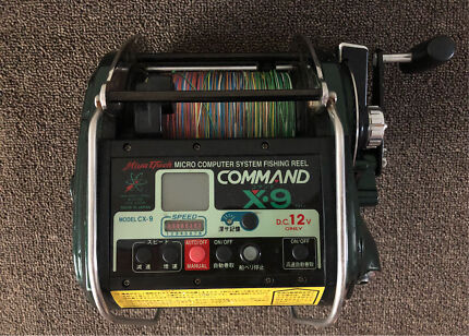 Command X9 electric fishing reel