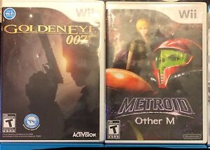Assorted Wii games for sale. Goldeneye.  Metroid