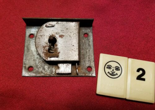 Half Mortise Lock Cabinet Desk Drawer Cupboard Door Vintage - BJ2BK