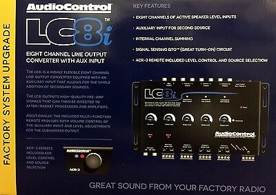 NEW Audio Control LC8i 8-Channel Line Output Converter w/ Aux Input BLACK