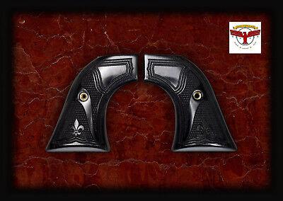 RUGER BLACKHAWK, OLD VAQUERO, SINGLE SIX GRIPS ~ BLACK DIAMOND™ FB Fleur-de-Lis