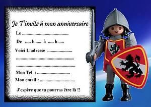 Invitez à Votre Anniversaire Avec Des Playmobils Carte