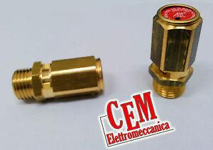 """Valvola di sicurezza tarata 8 Bar 1/4"""" per aria per compressore (abac fini fiac)  eBay"""