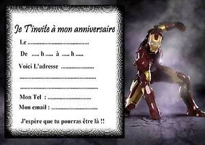 5-cartes-invitation-anniversaire-iron-man-01-dautres-articles-en-vente