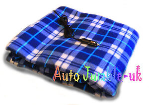 Large 12v Electric Heated Car Travel Blanket 100 Polar