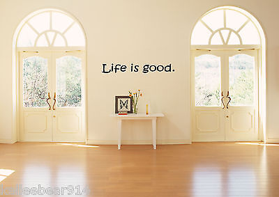 LIFE IS GOOD Vinyl Wall Saying Decal Sticker Cute Inspirational Life Love Quote - Cute Inspiration