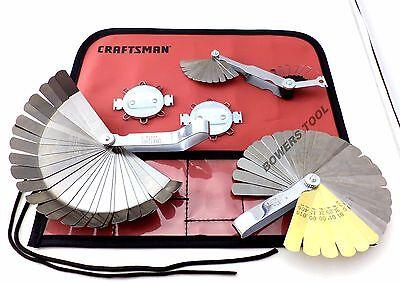 Craftsman 5pc Master Feeler Gauge Set for Ignition Spark Plugs Valve Tappets etc ()