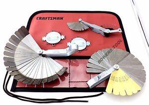 Craftsman 5pc Master Feeler Gauge Set for Ignition Spark Plugs Valve Tappets etc