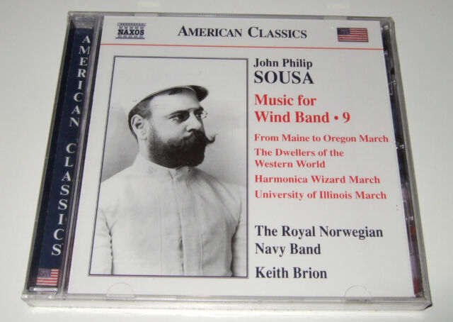 Sousa: Music for Wind Band Vol. 9 (CD, 2011) Keith Brion, Naxos - new