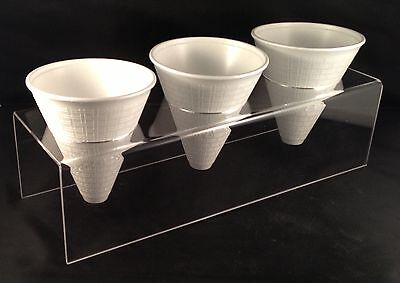 CHIP CONE HOLDER DISPLAY STAND CARRIER 3MM HIGH QUALITY ACRYLIC