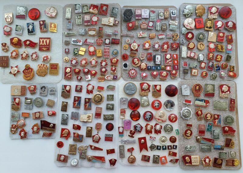 Set of 272 pcs. Pin Badge Lenin Comunism Propaganda of Soviet Union USSR Badges