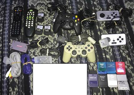 VARIOUS GAMING ACCESSORIES (PS1, NES, 360, XBOX, WII, GC)