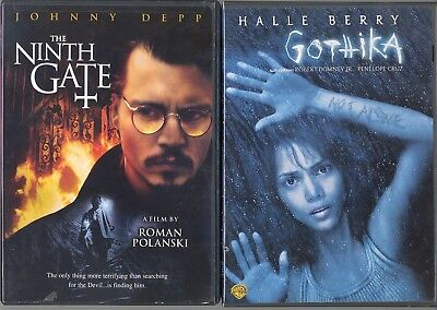 DVD'S LOT OF 2 HORROR FILMS THE NINTH GATE & GOTHIKA