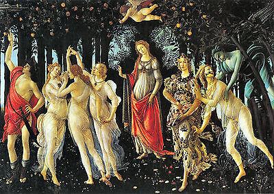 Botticelli 1445-1510 La Primavera Old Master on Canvas. 1st Class Post from UK.