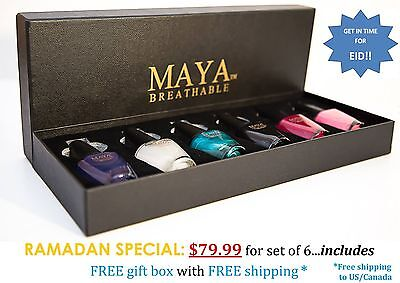 "MAYA Gift Set of 6 Breathable, Made in the USA, and ""9-FREE""!"