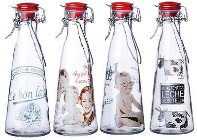 Set Mit 12 Glas Milch Flaschen Swing Top Clip Top Deckel Vintage Flasche 500ml