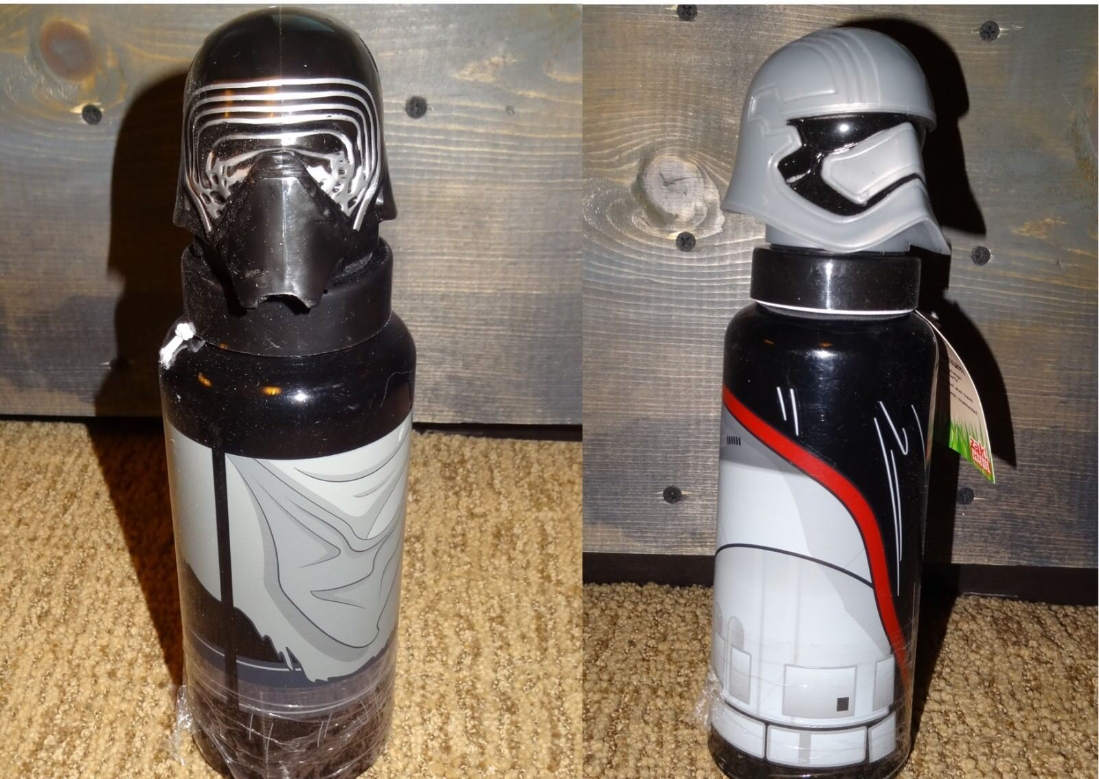 STAR WARS Zak! Aluminum Thermos Captain Phasma Kylo Ren Drin