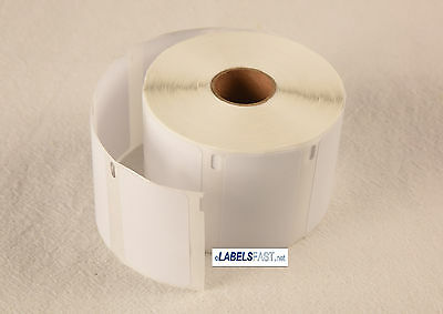 1 Roll Dymo Compatible 30334 2 1/4in X 1 1/4in White Multipu